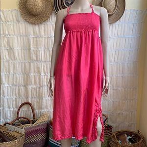 J. CREW Pink Silk French Garden Dress